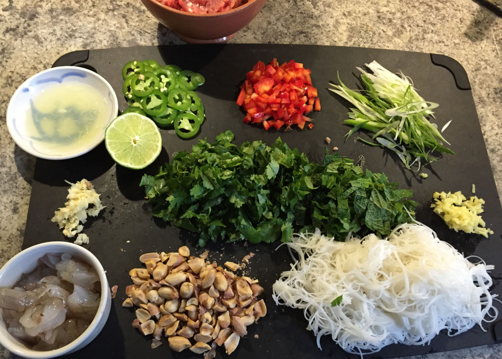 asian noodle prep