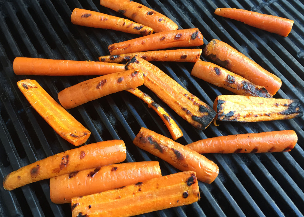 carrot pesto grilled