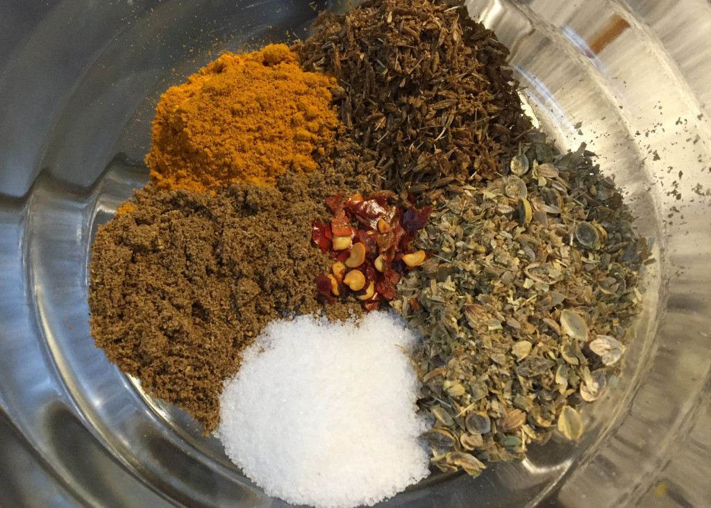 slow chicken curry spices